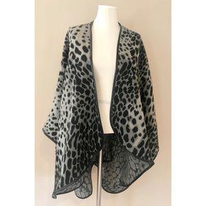 Ann Taylor leopard print poncho